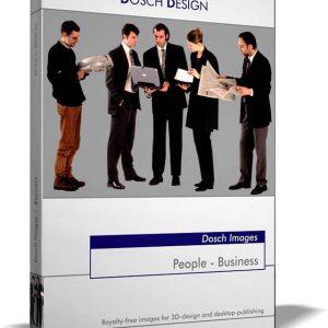 تصاویر دو بعدی انسان برای پست پروداکشن فتوشاپ Dosch Design - People Business