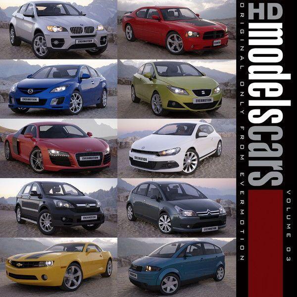 دانلود آبجکت ماشین سه بعدی با کیفیت بالا تری دی مکس ویری Evermotion - HD Models Cars