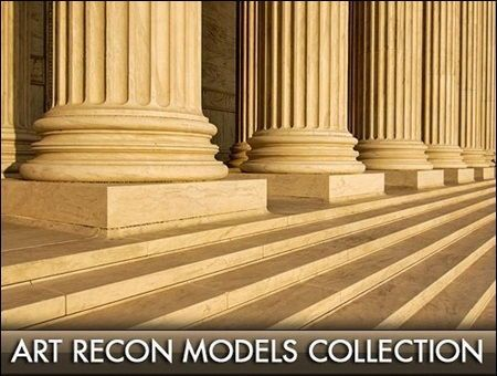 دانلود رایگان مدل سه بعدی نما رومی: گچبری کلاسیک ستون Art Recon