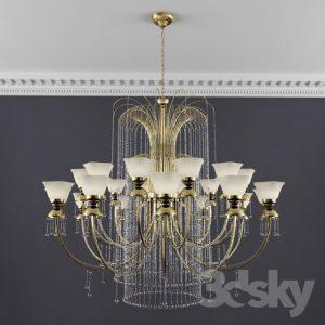 دانلود رایگان آبجکت لوستر روشنایی کلاسیک تری دی مکس ویری