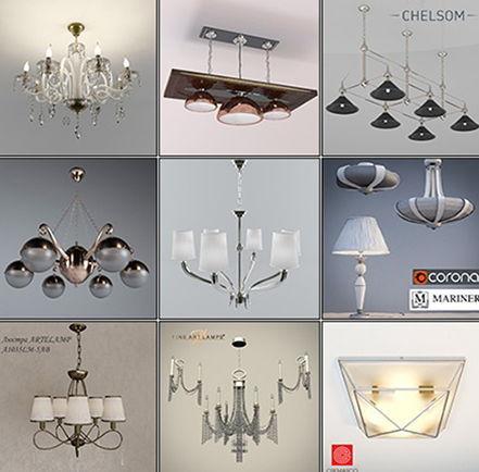 دانلود آبجکت لوستر کلاسیک تری دی مکس 3DDD Classic Ceiling Lamp