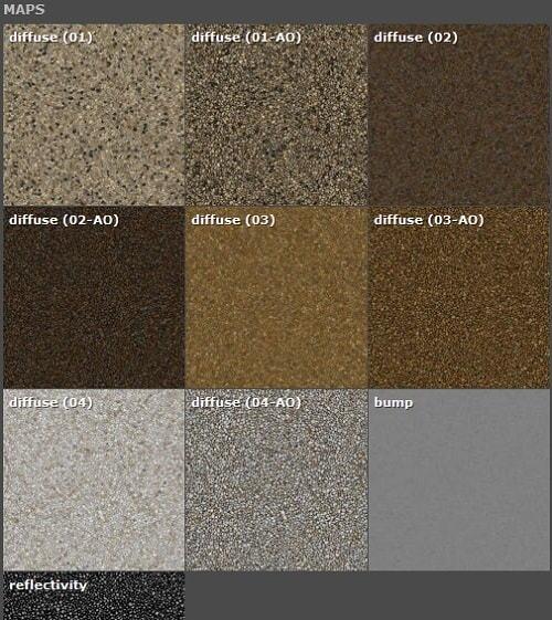 دانلود رایگان مجموعه متریال معماری تری دی مکس ویری Arroway Textures - Gravel One