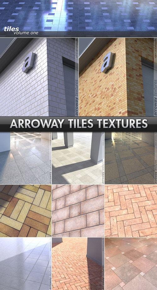 دانلود رایگان مجموعه متریال معماری تری دی مکس ویری Arroway Textures - Tiles Vol 1