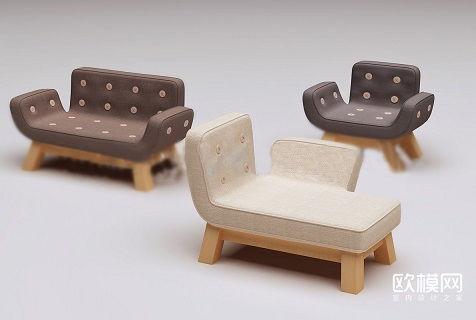 دانلود مدل سه بعدی مبلمان تری دی مکس مدرن مبل