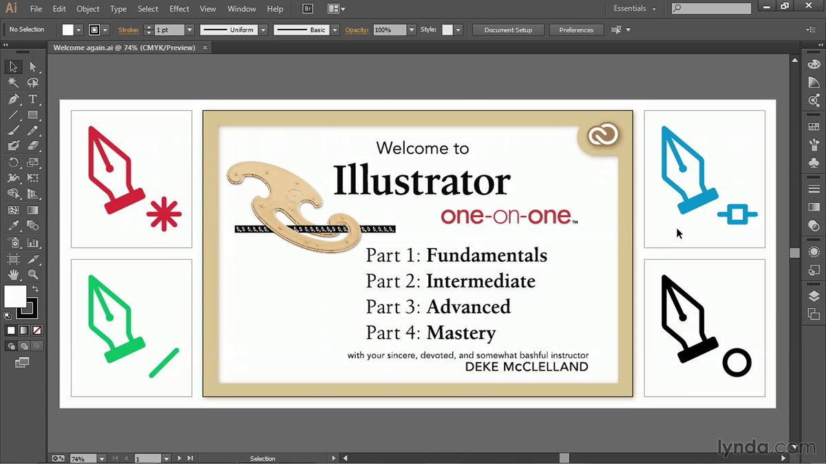 آموزش فارسی مقدماتی ادوبی ایلاستریتر : آشنایی با محیط نرم افزار Illustrator