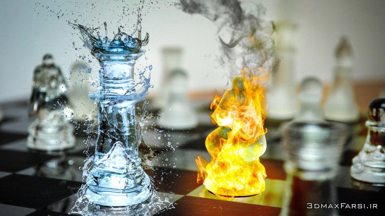آموزش ساخت افکت های دیجیتالی آب آتش دود Photographing Digital Assets