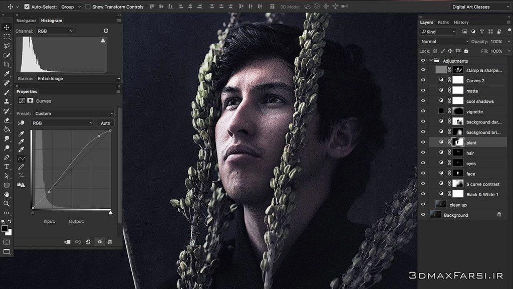 آموزش ویرایش تصاویر چهره انسان عکاسی پرتره Mastering Portrait Editing Photoshop