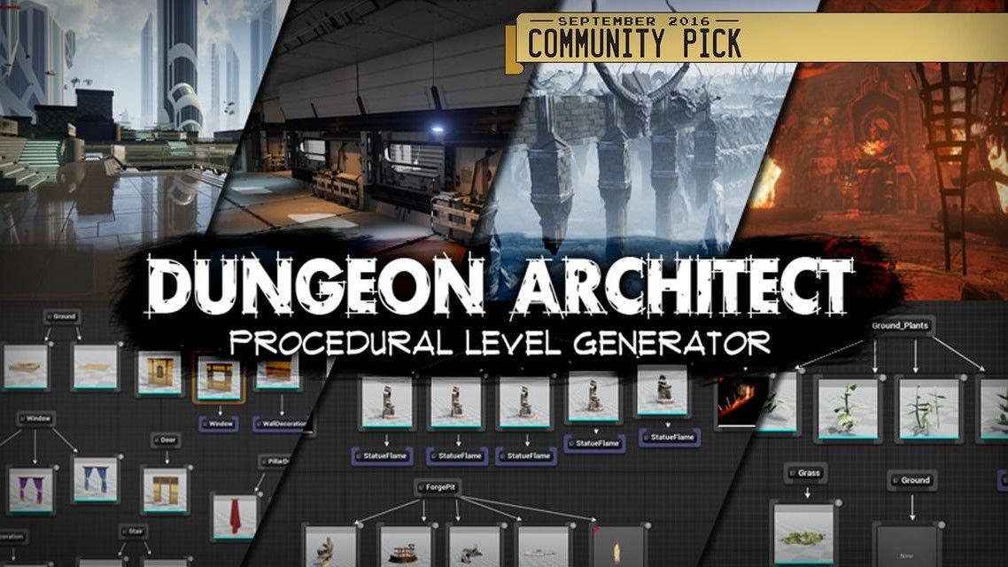 دانلود پلاگین آنریل انجین: طراحی مرحله لول Dungeon Architect Unreal Engine
