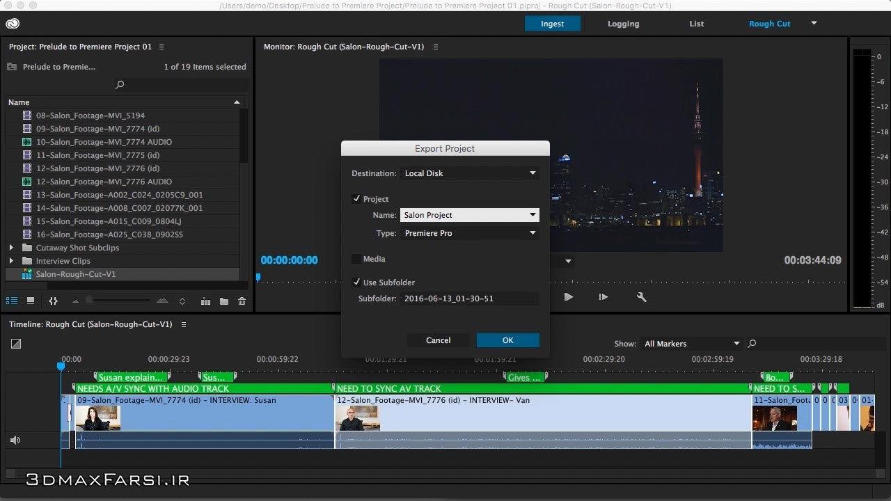 دانلود آموزش ساخت ویدئو پروداکشنAdobe Prelude – Premiere Pro