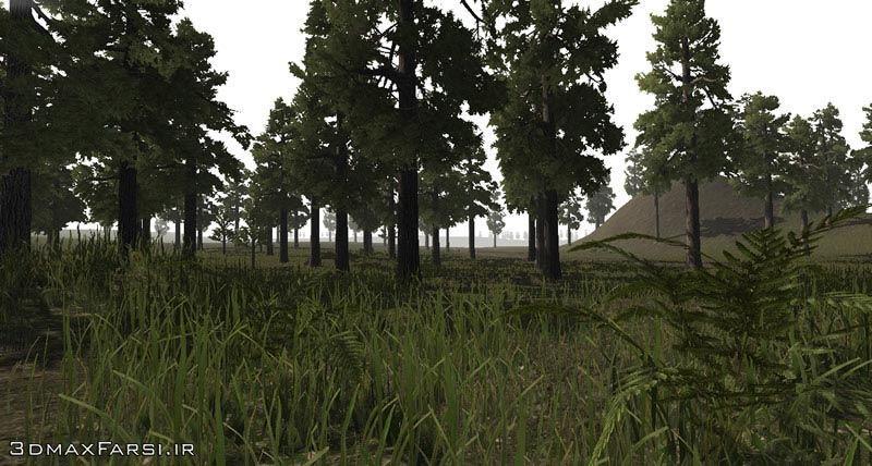 آموزش فارسی شبیه سازی عوارض زمین: ساخت فضای سبز چمن یونیتی گل درخت Unity 3D