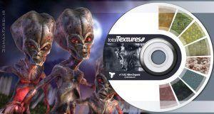 دانلود متریال تکسچر کاراکتر انسان فانتزی Total Textures V11:R2 - Alien Organic