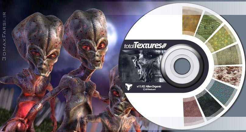 total textures v11 r2 alien organic تکسچر متریال کاراکتر کارتونی(سر دست پا گردن Total Textures)
