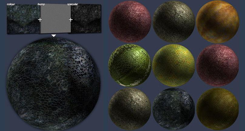 total textures v11 r2 alien organic04  تکسچر متریال کاراکتر کارتونی(سر دست پا گردن Total Textures)