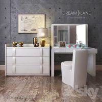 دانلود آبجکت میز آرایش میز توالت مدل سه بعدی تری دی مکس ویری Vray 3ds max
