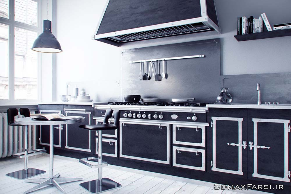پکیج کامل آبجکت کابینت آشپزخانه : مدل سه بعدی Archmodels vol. 166