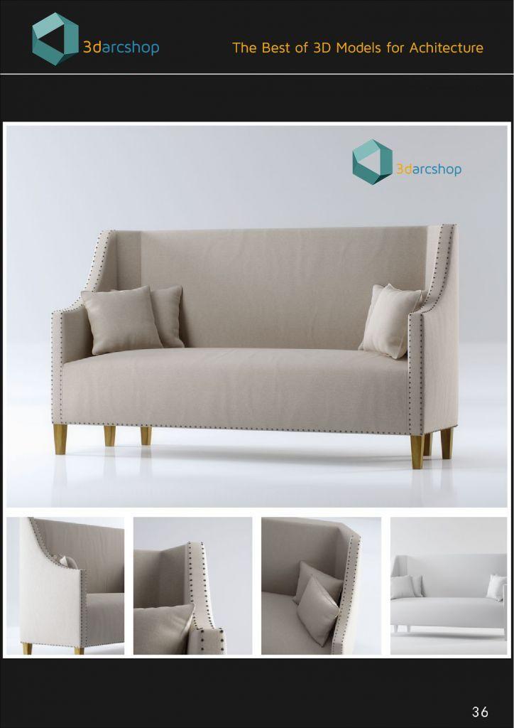 Photo of مدل سه بعدی صندلی تریدی مکس 3Darcshop Boutique Sofa Chair Series