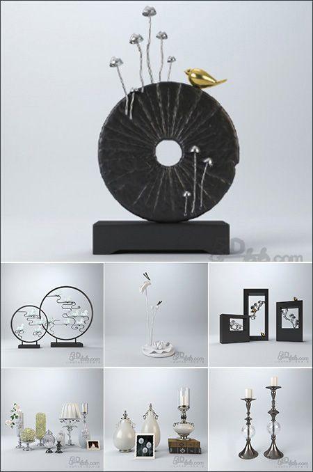 Photo of آبجکت سه بعدی تزئینی شیک برای تری دی مکس ویری 3Darcshop Decorations