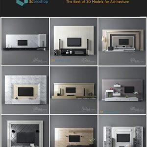 مدل سه بعدی ست میز تلویزیون 3Darcshop TV & Media Furniture 01-114