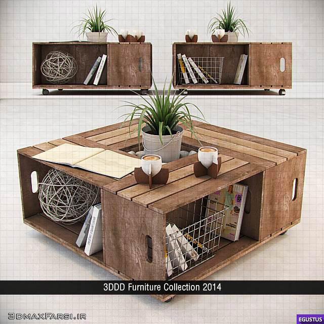 دانلود آبجکت مبلمان تری دی مکس3DDD Furniture Collection 2014