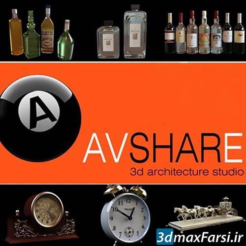 Photo of دانلود آبجکت ساعت کلاسیک: (اشیاء تزئینی رومیزی) Avshare bottles clocks