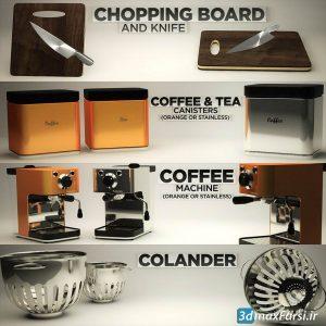 آبجکت سینمافوردی مدل سه بعدی آشپزخانه Pixel Lab kitchen Pack CGP