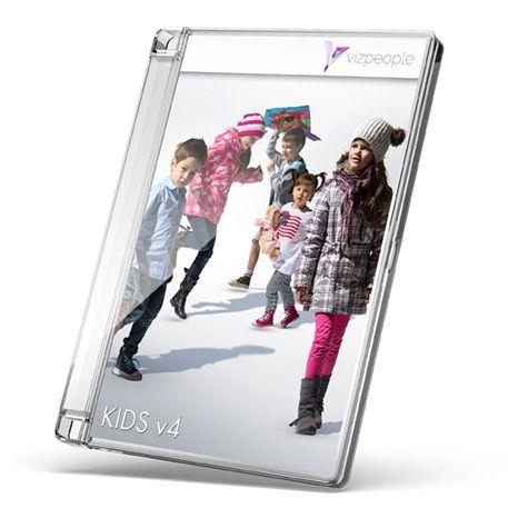 دانلود تصاویر دوبعدی کودک برای پست پروداکشن فتوشاپ viz-people kids v4 | دانلود رایگان