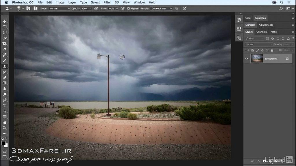 ابزار کلون استمپ فتوشاپPhotoshop clone stamp