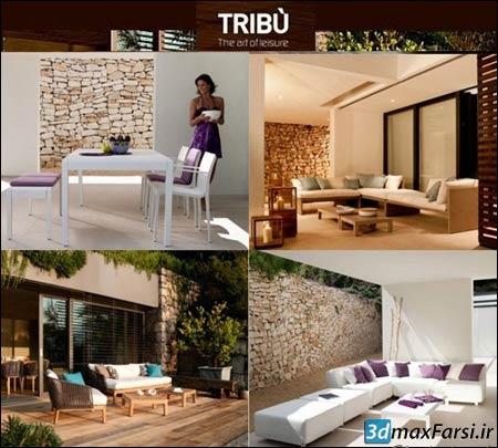 دانلود آبجکت سه بعدی داخلی Tribu Furniture 3D Models Collection