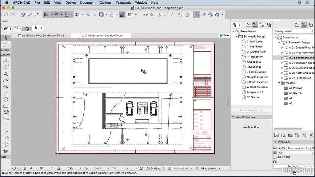 آموزش اندازه گذاریآرشیکد نقشه های خروجیArchiCAD Dimensions دانلود رایگان فیلم