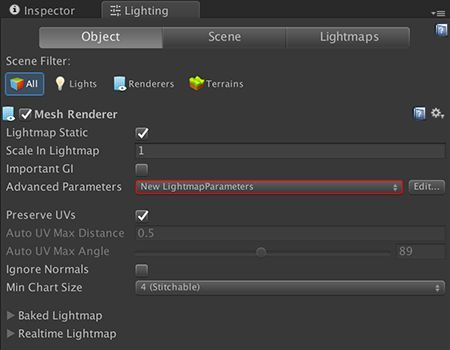 Unity Lighting Level