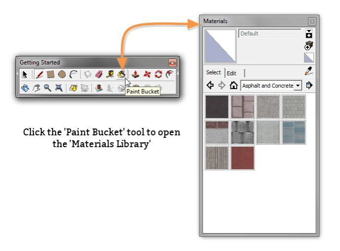 آموزش ساخت متریال برای اسکچاپmaterials SketchUp