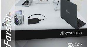 دانلود آبجکت سه بعدی لوازم الکترونیکی کامپیوتر Cgaxis Models 3d Electronics IV