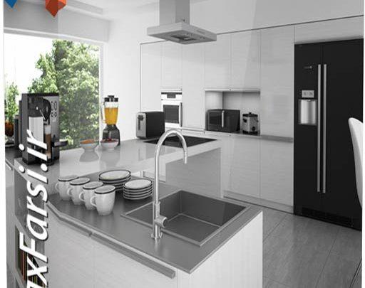 آبجکت آماده آشپزخانه تری دی مکس ویریCGAxis Models Kitchen Appliances