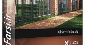 دانلود آبجکت آماده دیوار نردهحصار تری دی مکس ویریCGAxis Models Volume 36 Fences