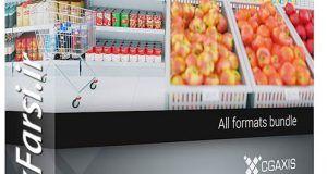 دانلود مدل سه بعدیتجهیزات سوپر مارکت فروشگاه هایپرمارکت3d Supermarket