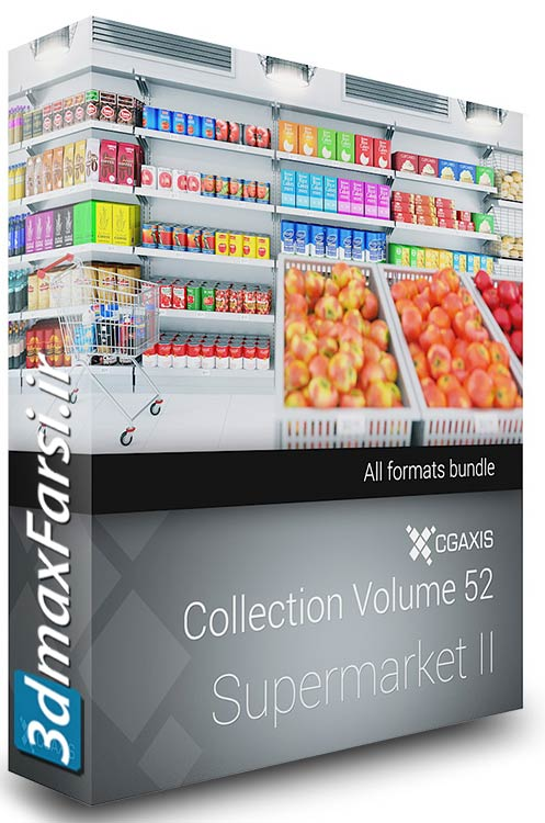 Download CGAxis Models Volume 52 3D Supermarket II