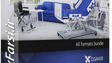 دانلود مدل سه بعدی آماده تجهیزات پزشکی دندانپزشکی کلینیک مطب تری دی مکس ویریCGAxis Models 3D Medical