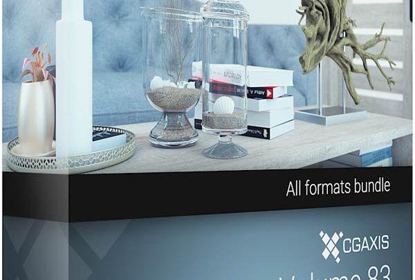 دانلود آبجکت وسایل دکوری وسایل تزیینی فانتزی تری دی مکس ویری CGAxis Models Decorations