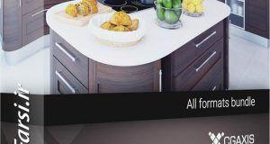 آبجکت آشپزخانه وی ری لوازم آشپزخانه Cgaxis Models Kitchen Furniture دانلود رایگان