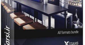 دانلود مدل سه بعدی آمادهکافی شاپ رستوران بارCGAxis Models Bar Equipment