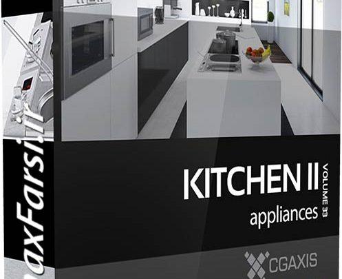 دانلود آبجکت آشپزخانه مکس مدرن CGAxis Models Kitchen Appliances II