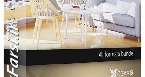 آبجکت مبلمان جدید تری دی مکس ویری Cgaxis Models 3d Modern Furniture Vray 3ds max