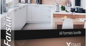 دانلود مدل سه بعدی لوازم آشپزخانه مدرن کلاسیک تری دی مکس ویری Cgaxis Models 3d Kitchen Appliances