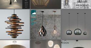 دانلود مدل سه بعدی لوستر مدرن تری دی مکس 3DDD - Modern Ceiling Lamp