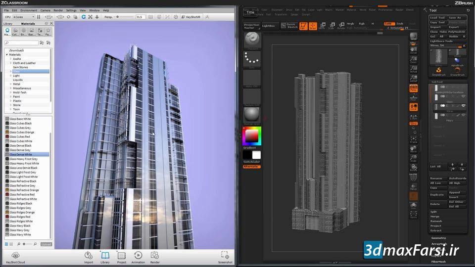 آموزش زیبراش در معماری ZBrush Architectural Design | حجاری اسکالپتینگ