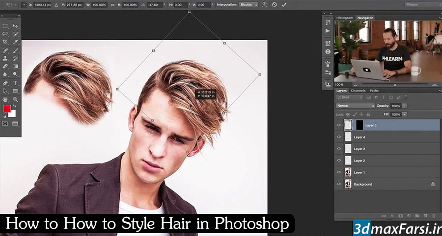 How to How to Style Hair in Photoshop