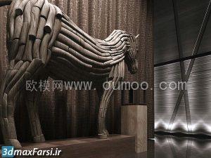 آبجکت مبلمان کلاسیک تری دی مکس Oumoo Furniture B Collection 1
