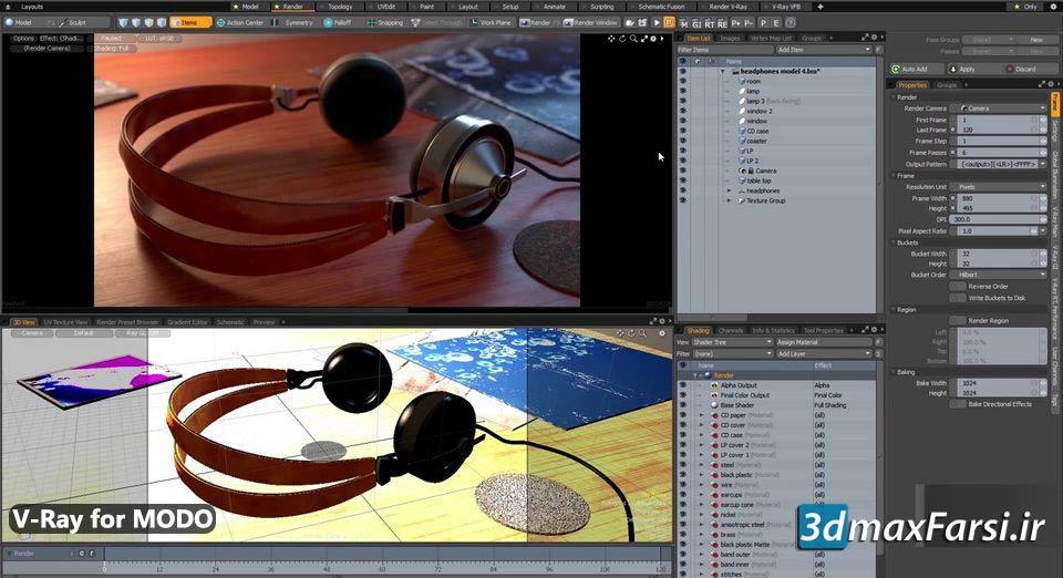 آموزش پلاگین ویری برای مودو V-Ray for MODO | شروع سریع رندرینگ سه بعدی