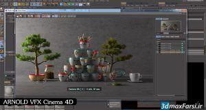 آموزش جلوه ویژه آرنولد در نرم افزار سینمافوردی Arnold . Cinema 4D