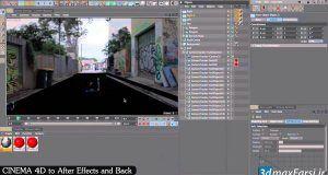 آموزش انتقال فایل افترافکت به سینمافوردی و برعکس After Effects Cinema 4d